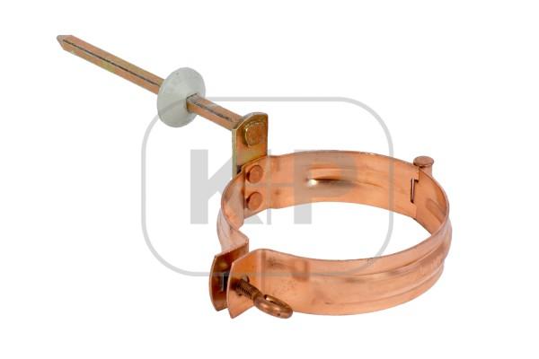 Kupfer Fallrohrschelle rund Ø80mm/Stift 140mm