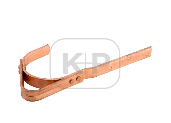 Kupfer-Sicherheitsdachhaken 30x6 gerade