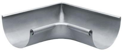 Aluminium Rinnenwinkel halbrund 285 innen