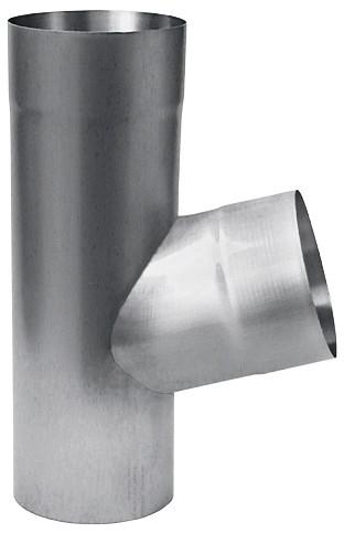 Aluminium Fallrohrabzweig Ø100/Ø80/72°