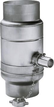 Aluminium Regenwassersammler Ø100