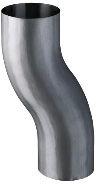 Zink QUARTZ Sockelknie Ø80/60mm