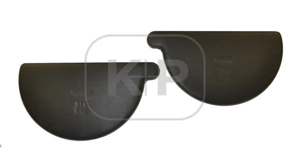 Zink ANTHRA-Vorboden halbrund 285 rechts