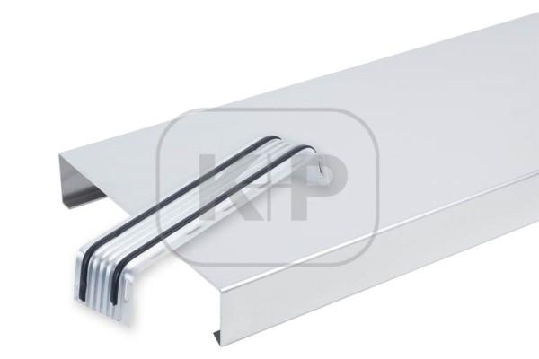 Aluminium Mauerabdeckung mit 4 Kantungen System Attika