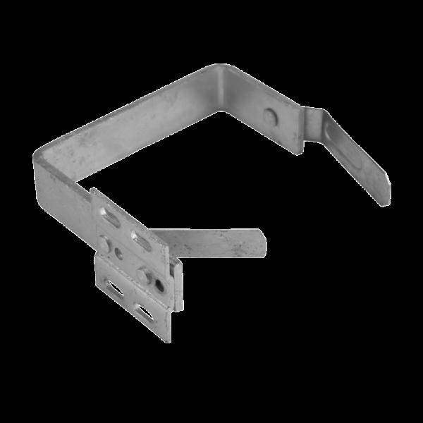 Stirnbretthalter für kastenförmige Dachrinnen verzinkt