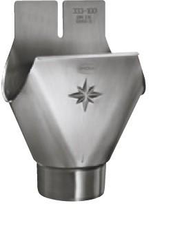 Aluminium-Einhangstutzen halbrund 400/120