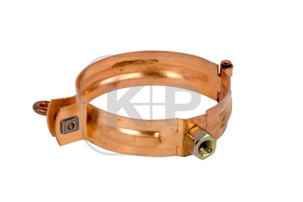 Kupfer Fallrohrschelle rund Ø80mm/Gewinde M10
