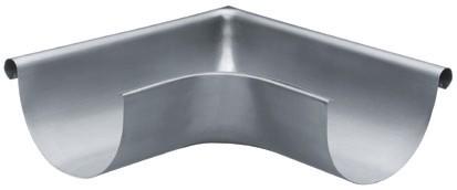 Aluminium Rinnenwinkel halbrund 333 außen