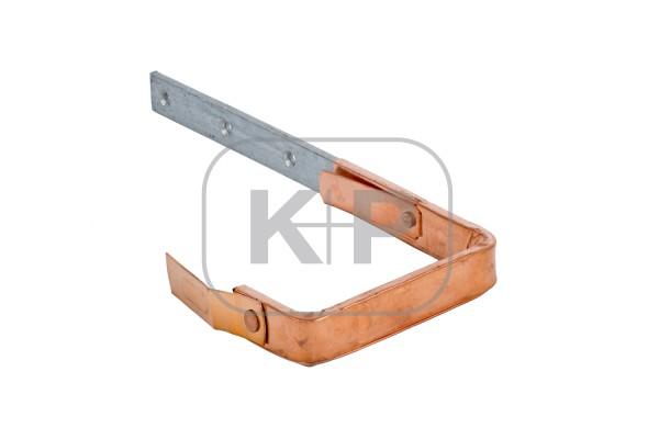 verzinkter Rinnenhaken Kupfer ummantelt kasten 25x5/250 Feder/Feder
