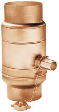Kupfer Regenwassersammler Ø100