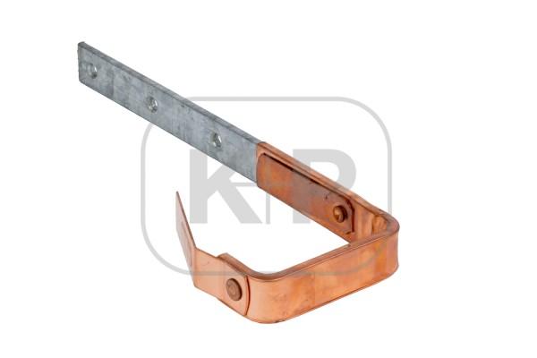 verzinkter Rinnenhaken Kupfer ummantelt kasten 25x6/333 Feder/Feder