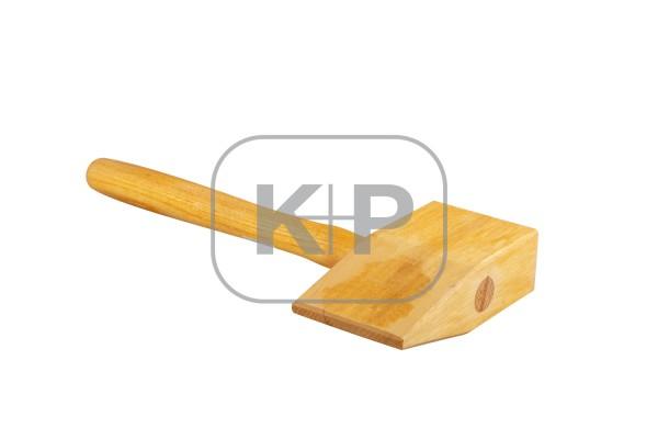 Holz-Deckhammer 90 x 50 x 165 kantig, Kopf hartholz, mit Eschenstiel