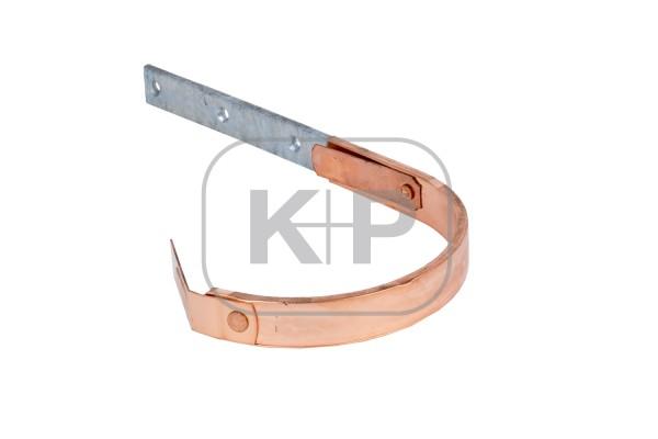 verzinkter Rinnenhaken Kupfer ummantelt halbrund 25x5/250 Feder/Feder